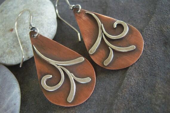 Rustic-Swirls-Dangle Earrings-Sale-Free Shipping.