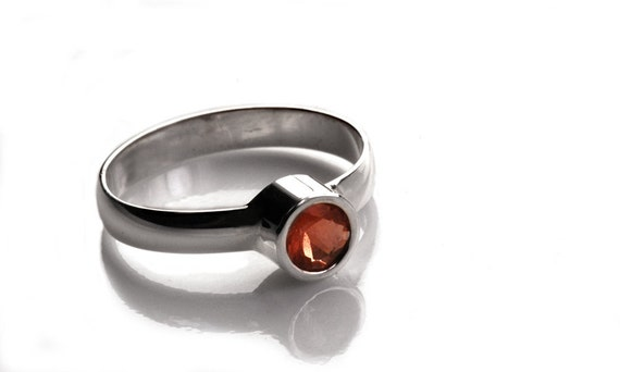 sunlit- sterling silver ring set with sunstone