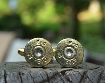Wedding cuff links gold cuff links Federal Cartridge .45 Colt cuff links bullet cuff links Best man gift FREE SHIPPING USA