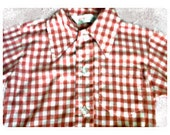 18 month - 2t VINTAGE Red & White checkered shirt