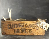 Rustic Wood California Canners & Growers Produce Crate