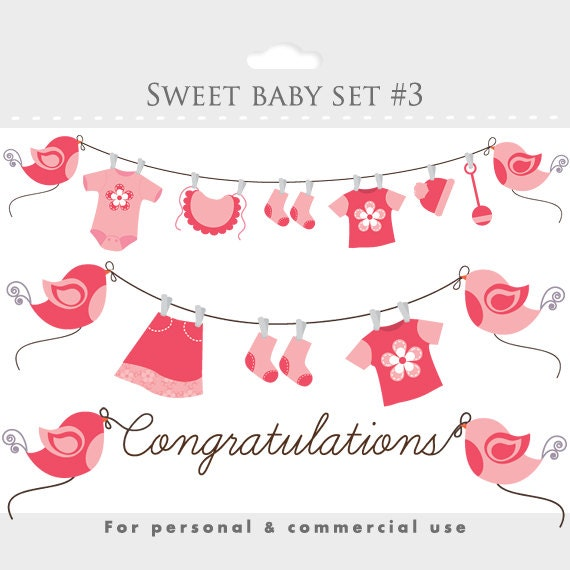 Clipart baby shower clip art baby girl pink by ...