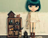 Room panel and floor for blythe doll