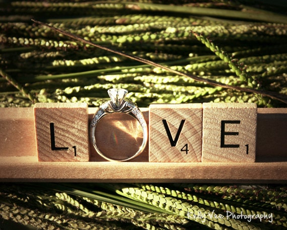 Love Letter Photograph Photo Letters Ring By