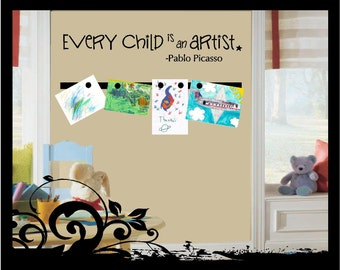 Every Child is an Artist - Picasso Quote - Vinyl Decal