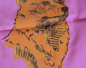 Neon Wolf XL Tote Bag