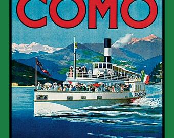 Lake Como Italy  Refrigerator Magnet - FREE US SHIPPING
