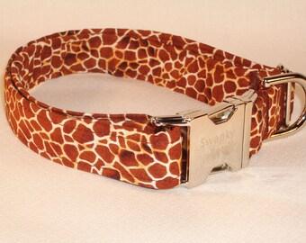 Giraffe Print Dog Collar by Swanky Pet