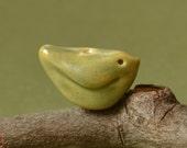 Bitty Bird Porcelain Bead in Apple Green