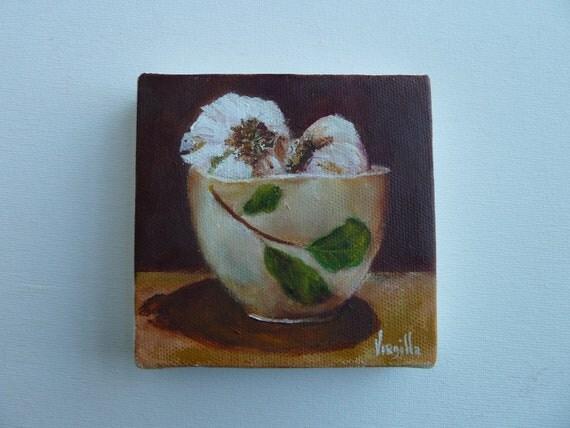 Botanical Bowl with Garlic   Garlic Paintings