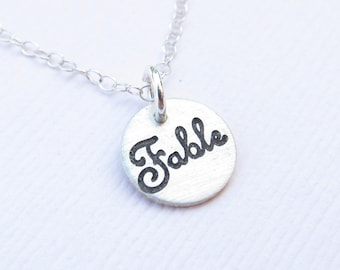 Personalized Name Necklace - Bridesmaid Gift -  Mom Gift