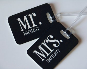 Personalized Monogrammed Luggage Tags (SET OF TWO)