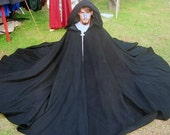 Custom Color Wool Full Circle Cloak SCA Renaissance LARP Pagan Halloween
