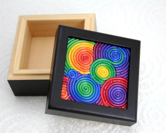 Rainbow Filigree Mini Box