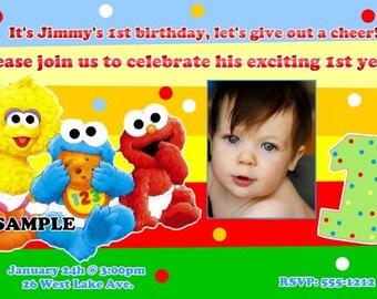 Sesame Street Babies Birthday Invitations