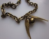 Golden Snitch Harry Potter Inspired Charm Bracelet