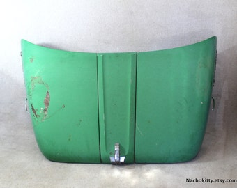 Tractor Hood International Harvester Lodestar Green Steel Vintage Decor