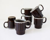 Vintage brown mugs