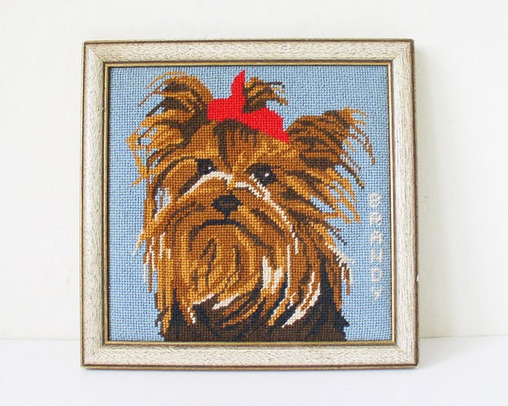 Yorkshire Terrier embroidery wall-hanging