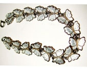 Butterfly Bracelet Sterling Silver Links 6 1/2 inch Vintage Made in Denmark