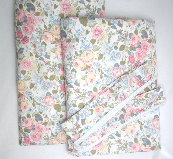 Laura Ashley Curtains & Tie Backs 2 Vintage By ShabbyCottageHome1