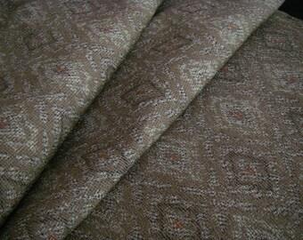 Vintage silk Japanese kimono fabric (brown diamond)
