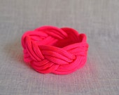 Neon Pink Nautical Rope Bracelet
