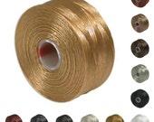 S-lon Beading Thread Neutral Color Mixture 41978 (12 bobbin) Size D Superlon Tex 45 Assortment, S-Lon Mixture, Size D Thread, Thread Mixture