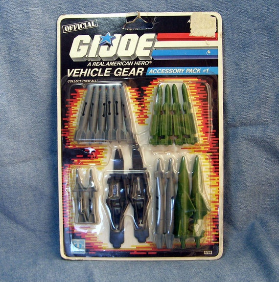 1986 GI Joe Action Figure Vehicle Gear Accessory Pack MIP Unopened