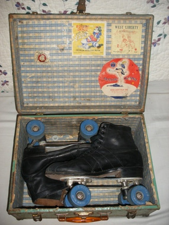Vintage Black Sure Grip Roller Skates