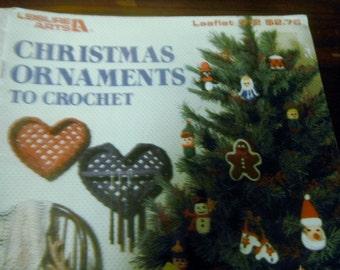 Christmas Crochet Patterns Christmas Ornaments to Crochet  Leisure Arts 512 Crocheting Pattern Leaflet