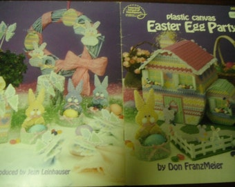Easter Plastic Canvas Easter Egg Party American School of Needlework 3071 Plastic Canvas Pattern Leaflet