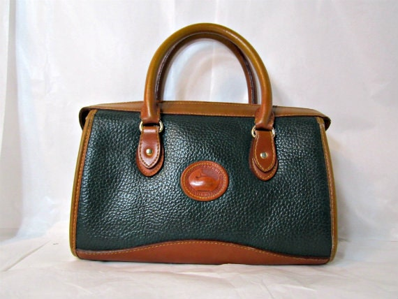 Doctor Bag Dooney & Bourke Brown Pebble Leather Purse