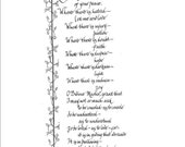 Hand Scribed Prayer of St. Francis