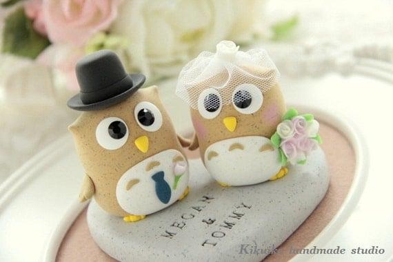 owls cake topper----Special Edition (K201),owl wedding cake topper