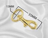 """30pcs - 1/2"""" Metal Spring Hook - Gold - (METAL HOOK MHK-118)"""