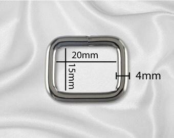 """10pcs - 3/4"""" Metal Square Ring - Black Nickel (SQUARE RING SRG-106)"""
