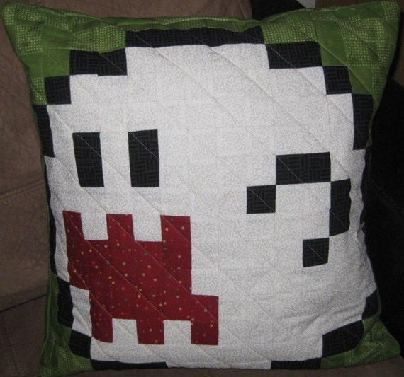 Boo Quilted Pillow Cover