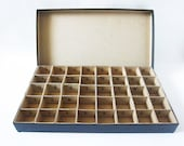 Vintage Cardboard Organization Box - Alphabet Storage