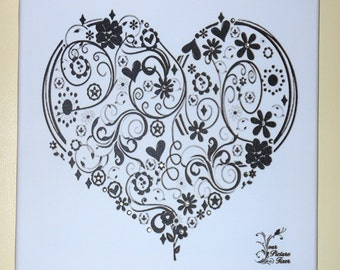 Gallery Wrap Canvas --Embellished heart