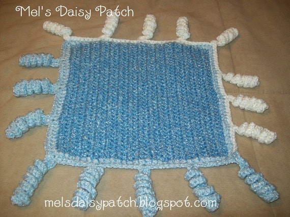 Crochet Wiggles And Giggle Baby Snuggle Blanket PDF Pattern.