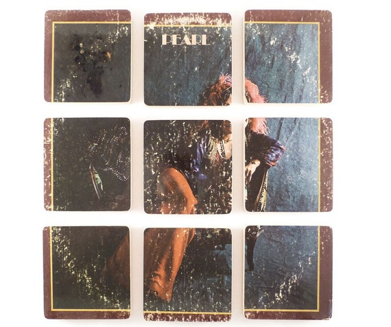 JANIS JOPLIN Record Coaster Set created from the Pearl Record Album