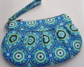 Princess Wristlet in Amy Butler Treasure Box Ocean Blue