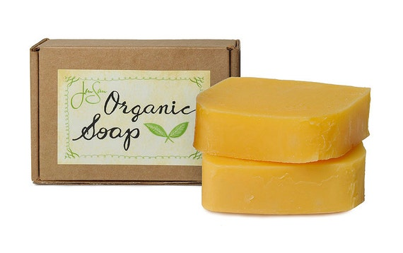 JenSan Lavender Orange Natural Organic Soap with Shea Butter and Essential Oils, Vegan Friendly, 4.5 oz (128 grams)