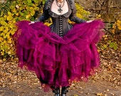 Bridal Steampunk Tulle Skirt in Intense Colors Petticoat Fairytale- Petite to Plus size - Custom to order - XS - 5XL