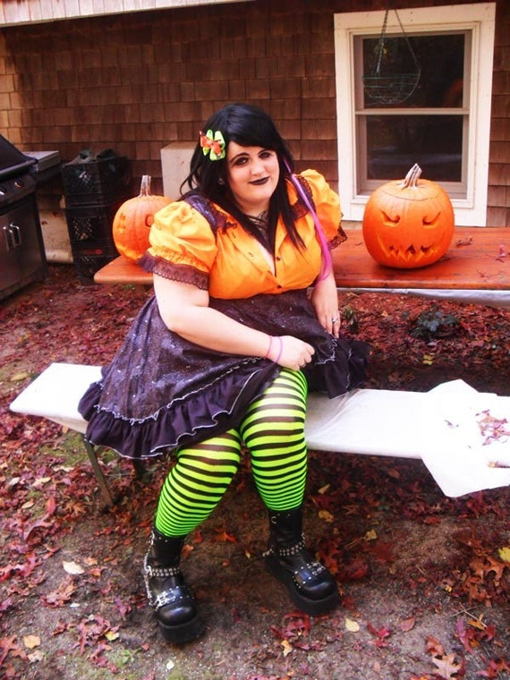 Plus Size Halloween Dress- Adult Halloween Costume-Bat Gothic Lolita Jumper - Custom to your size 3x-5x