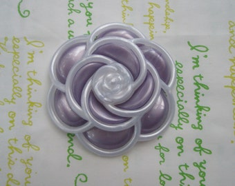 SALE Pearlized Huge Camelia Flower Pearly White Frame 1pc Purple