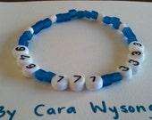 Children's safety phone number bracelet