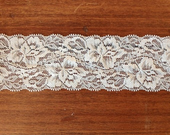 WIDE Stretch Lace  GRAY 440  -2 inch -10 yards for 13.90