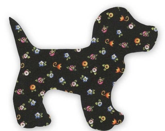 Black Dog Fusible Fabric Appliques Cotton Quilting Sewing Collage Die Cut